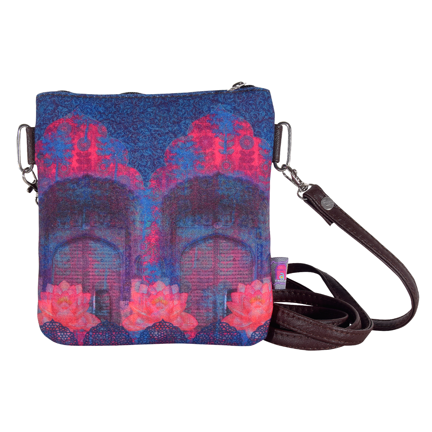 Cool Blue Rajasthani Small Sling Bag