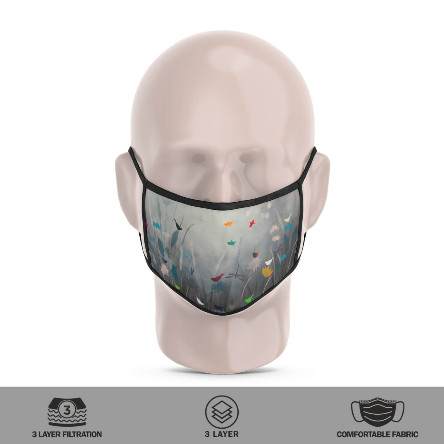 Whisper of existence Reusable Face Mask - Priyanka Waghela