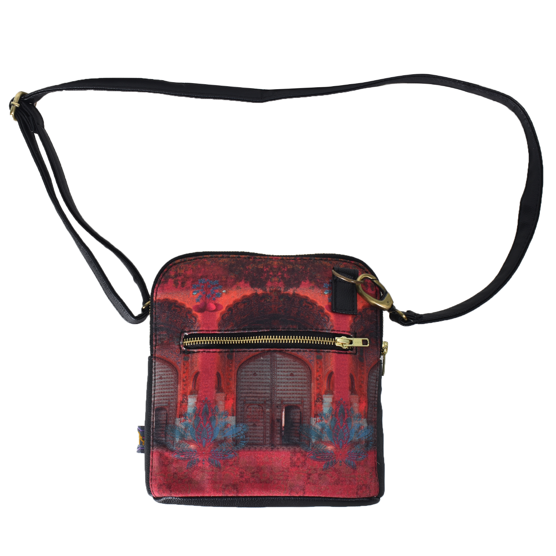 Pink Royal Door Design Crossbody Bag For Women And Girls