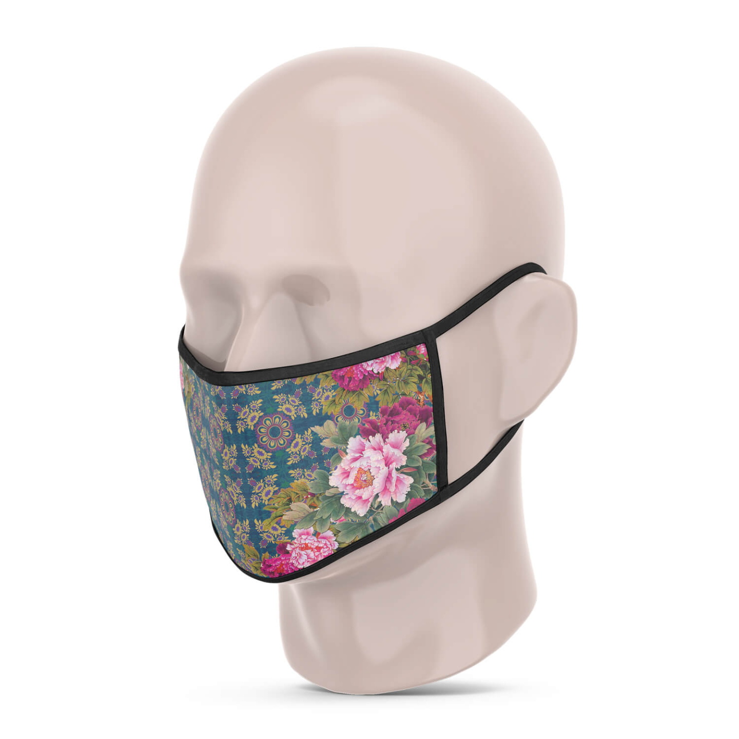 3 Layer Printed Protective Face Mask - Pack of 3 Green Combo