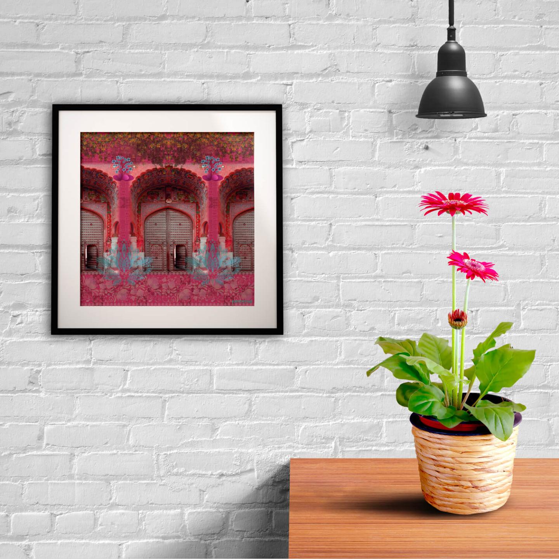 Pink Royal Door Design Framed Art Print