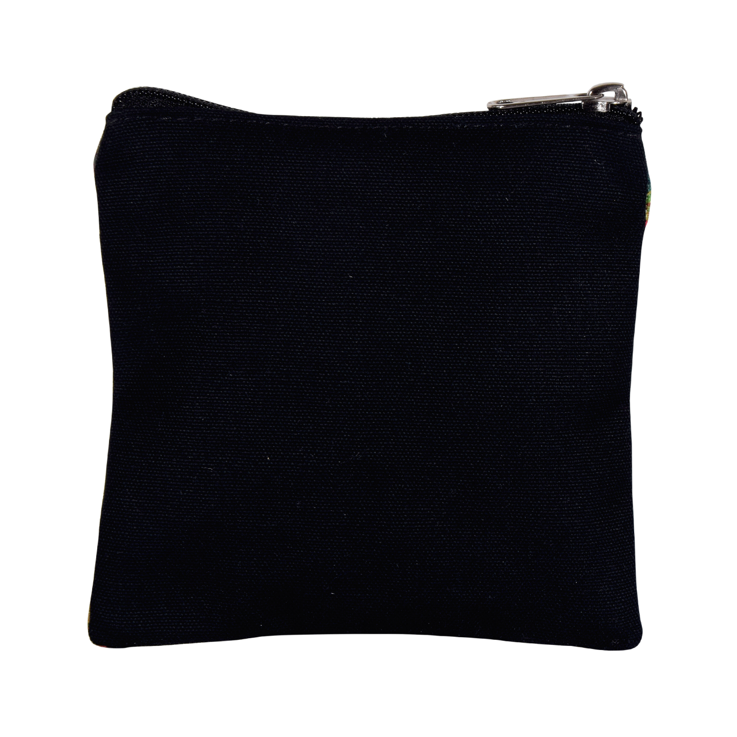 Peacock in Castle Poly Canvas Coin Pouch