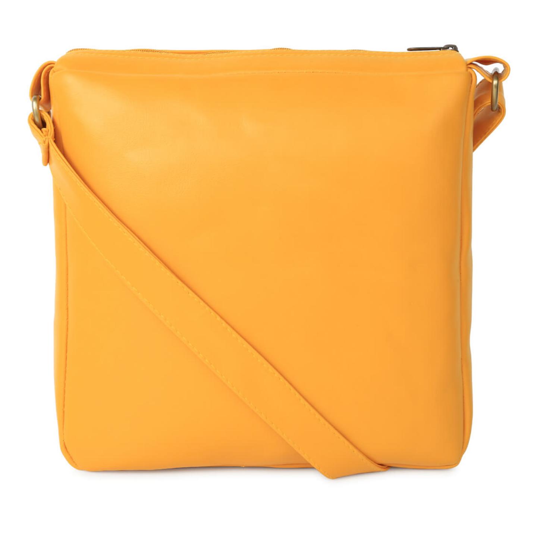 Crimson Taxi Canvas PU SlingCrossbody Bag