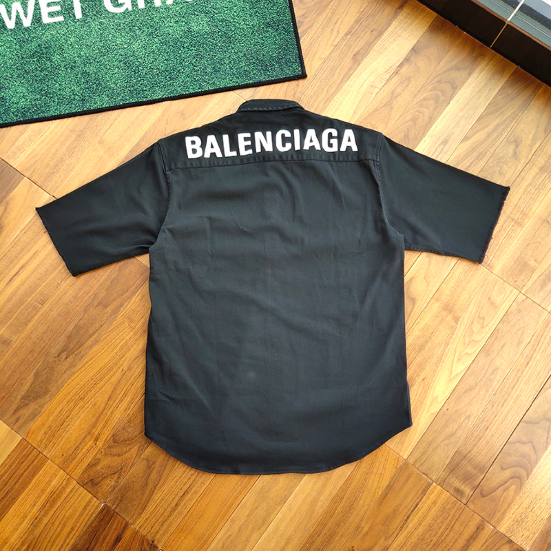 Balenciaga Half Sleeve Back Logo Shirt