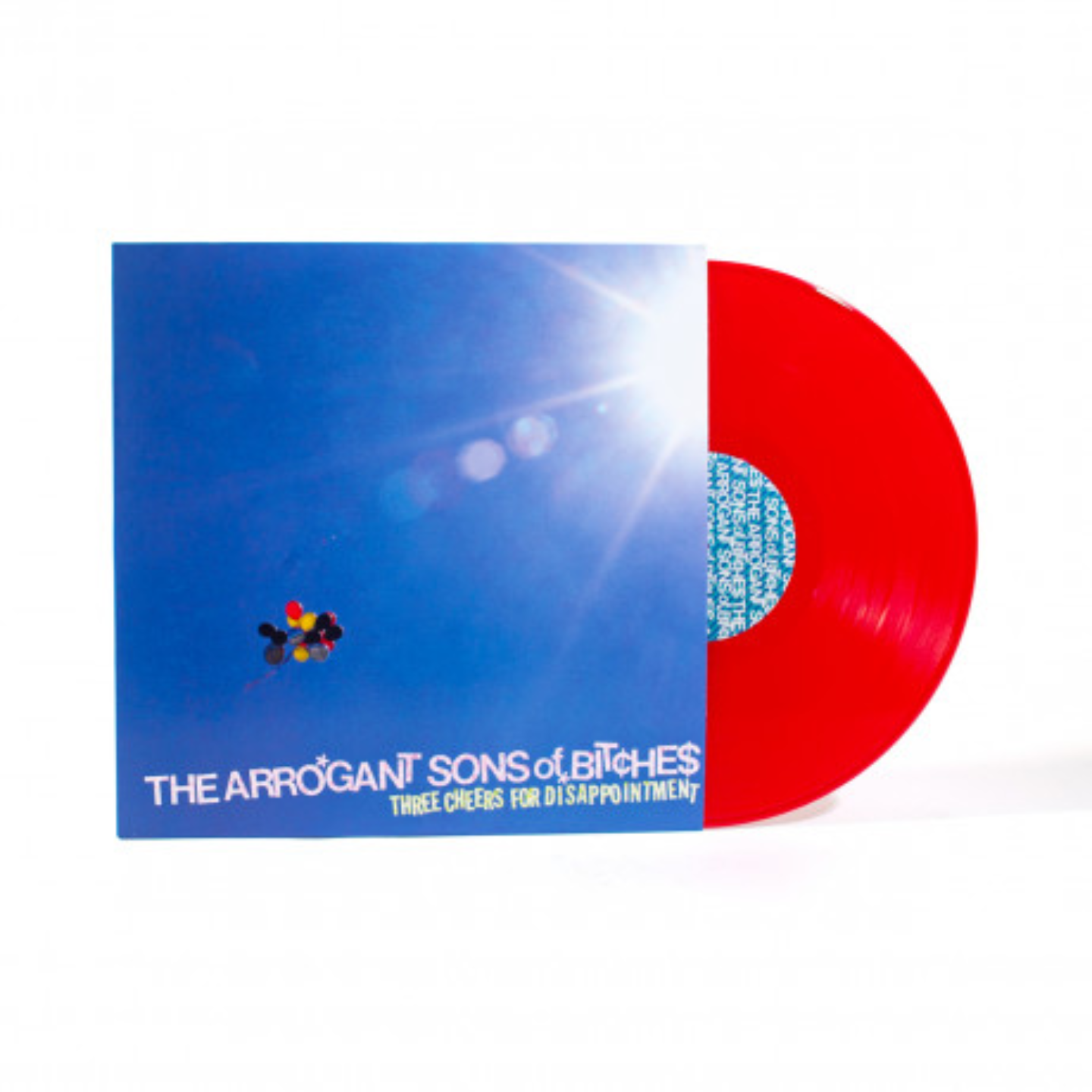 THE ARROGANT SONS OF BITCHES - Three Cheers For Disappointment LP Red Vinyl