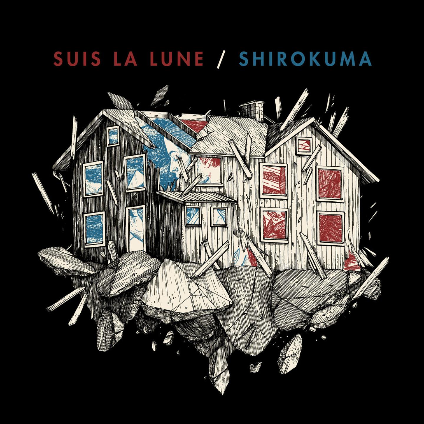 SUIS LA LUNE  SHIROKUMA - Split LP