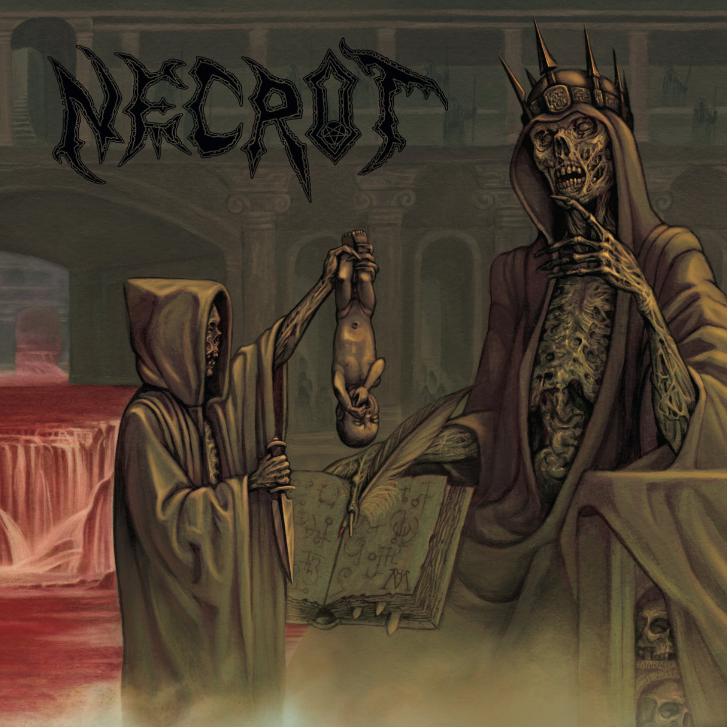 NECROT - Blood Offerings LP Swamp Green Vinyl