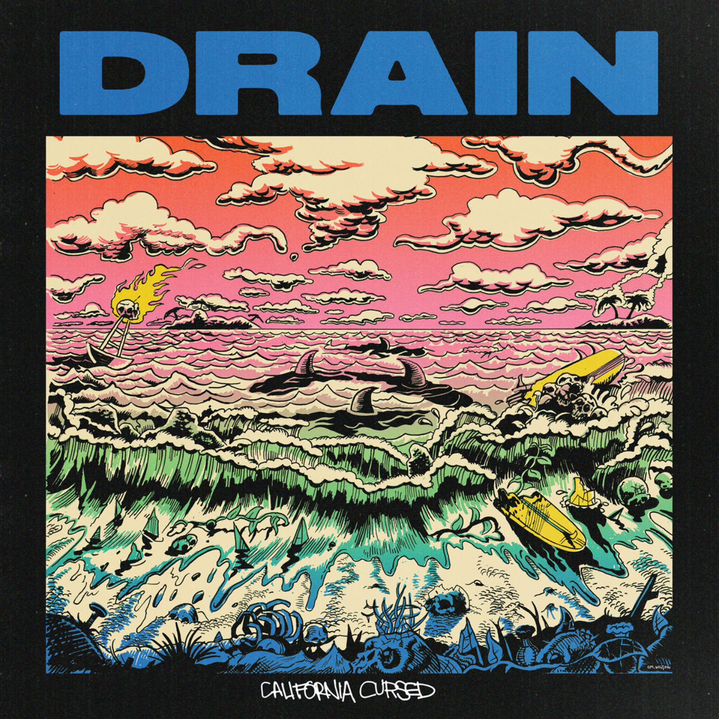 DRAIN - California Cursed LP Yellow Vinyl