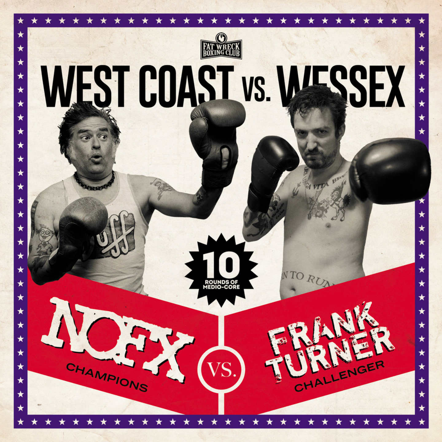 NOFX / FRANK TURNER - West Coast Vs. Wessex (Split) LP