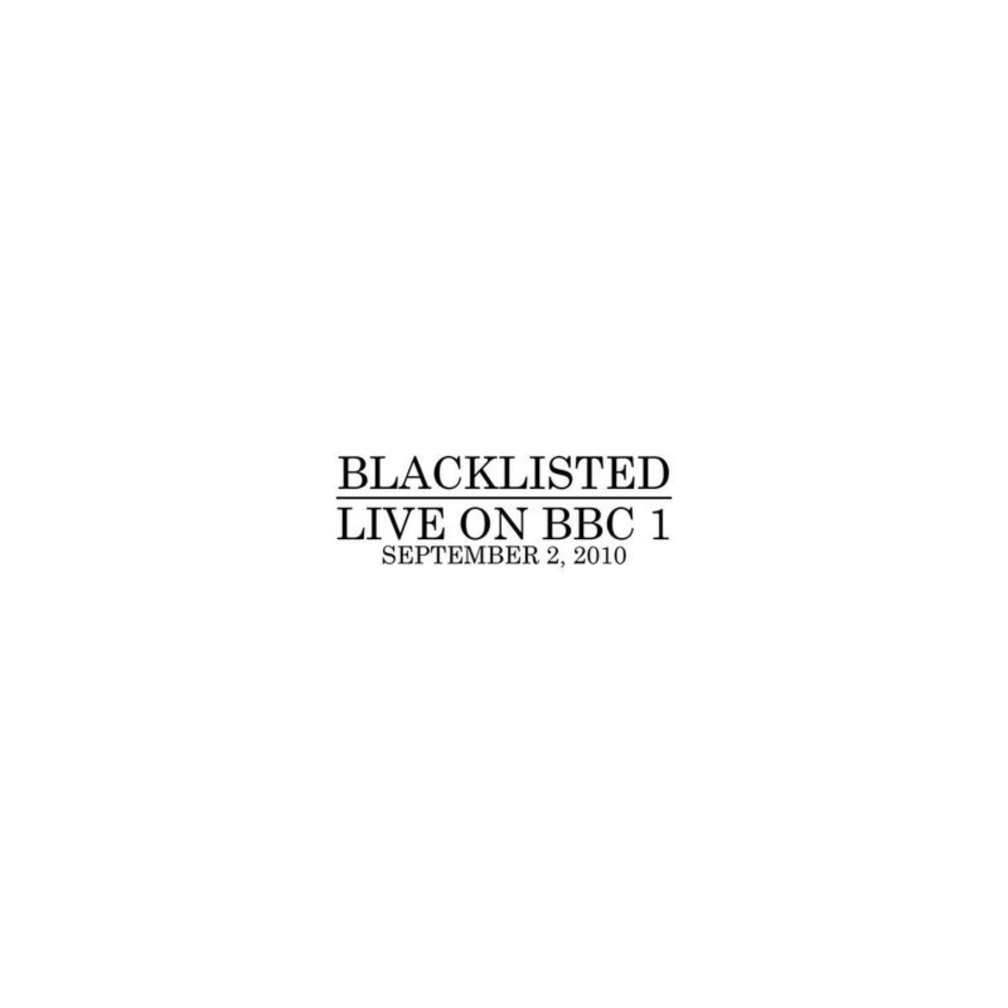 BLACKLISTED - Live On BBC 1