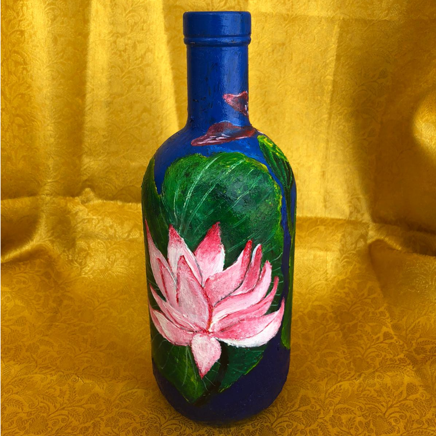 Glass Bottle Handpainted