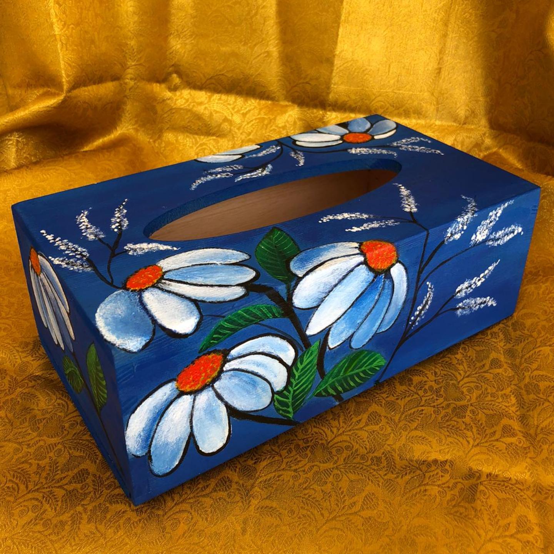 Royal Blue Tissue Box