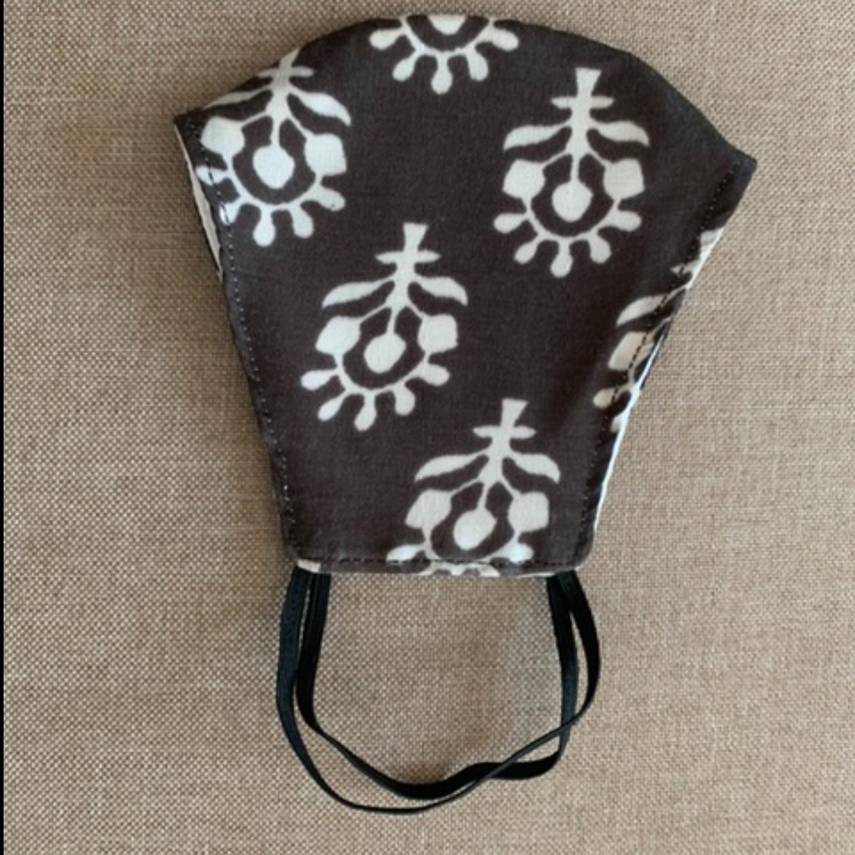Mask - Brown block print