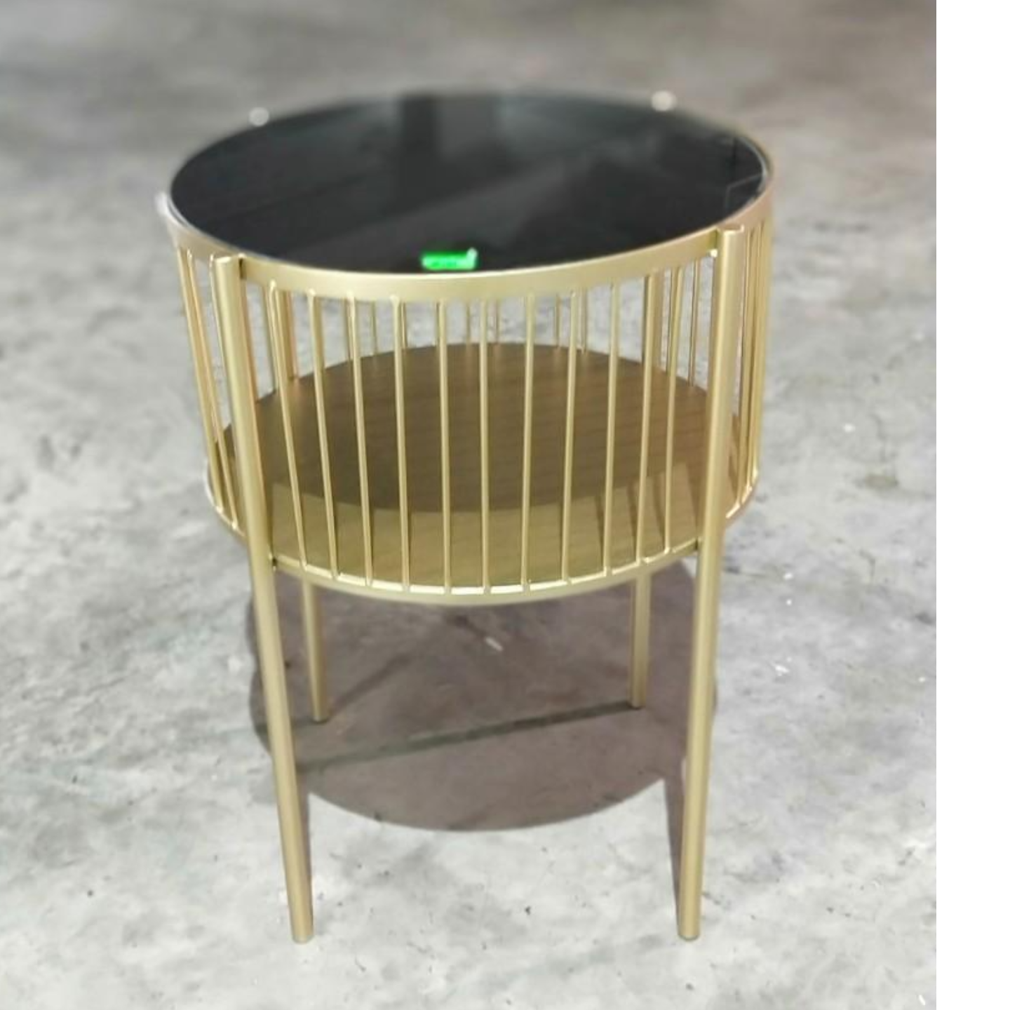 EWOK Round Side Table with Matt Gold Frame
