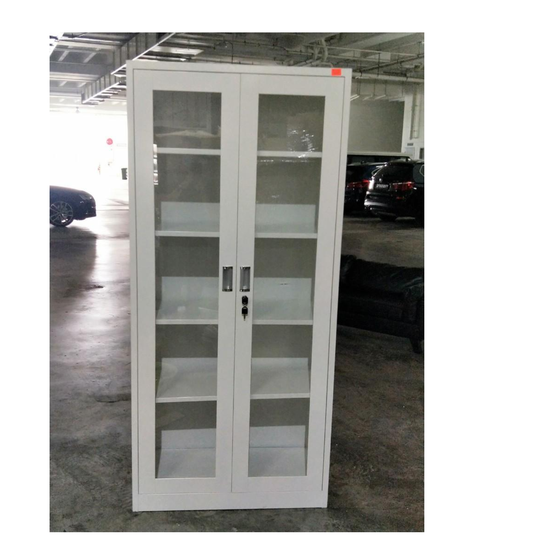GEAR Metal Full Display Cabinet in LIGHT GREY