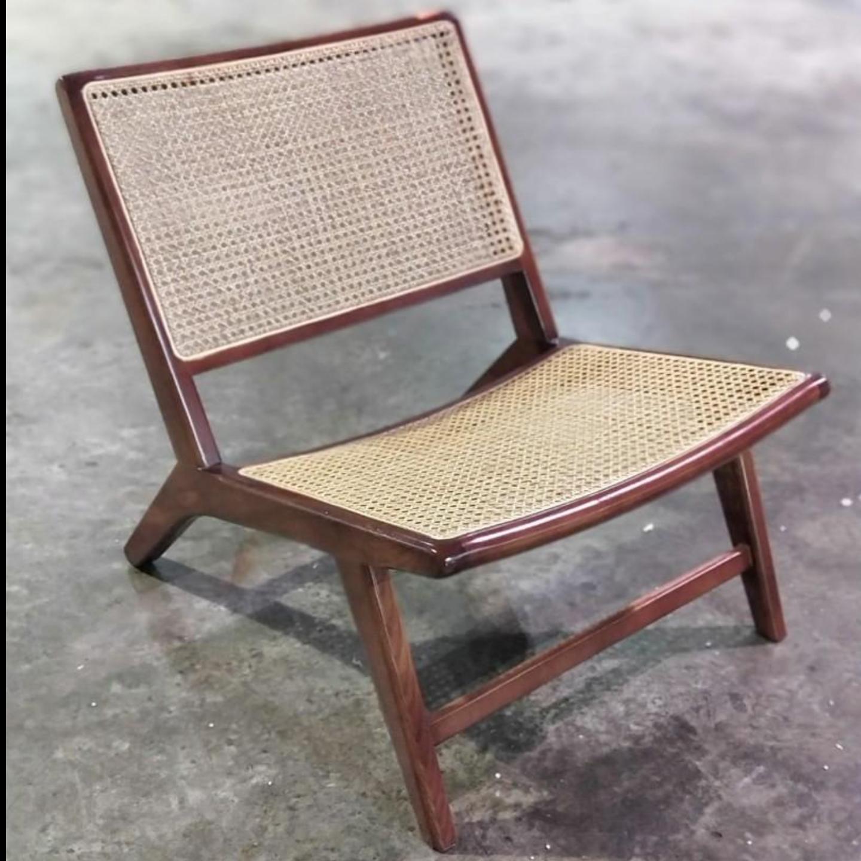 JOHNSON Rustic Rattan Lounge Chair