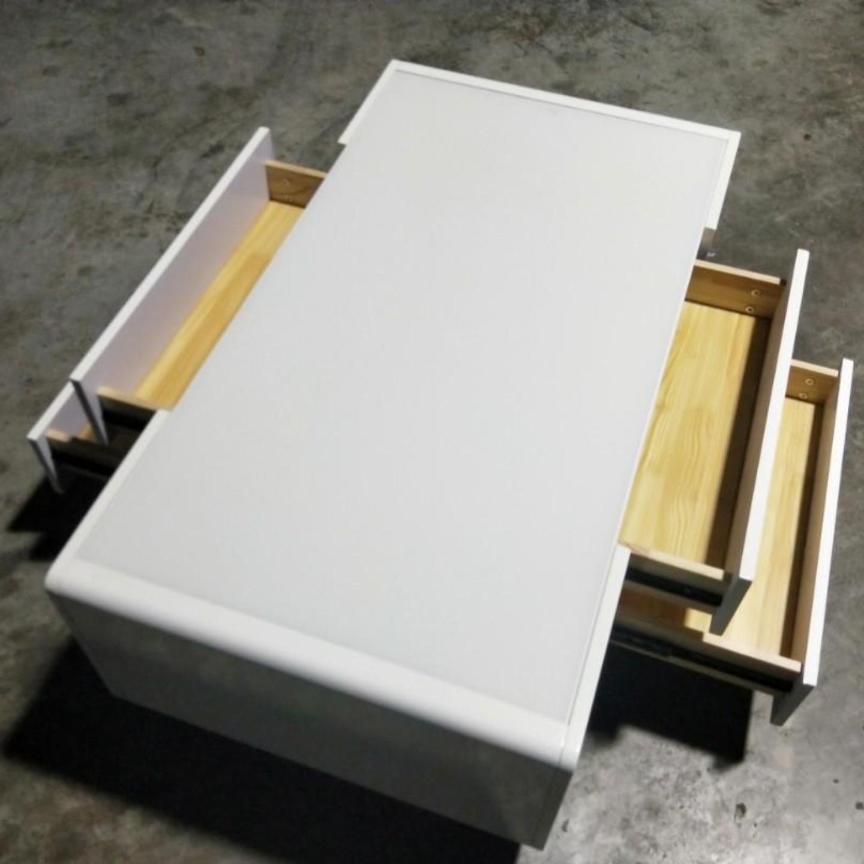 BARINO Modern Gloss Lacquer White Coffee Table
