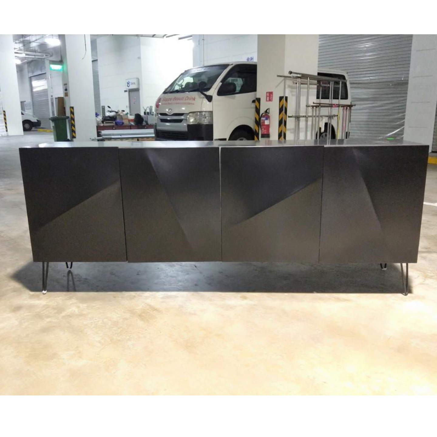 NAZZA BLACK Modern Contemporary Sideboard
