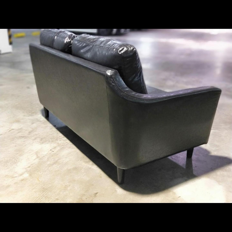JASKAR Designer 3 Seater Sofa in GLOSS BLACK PU