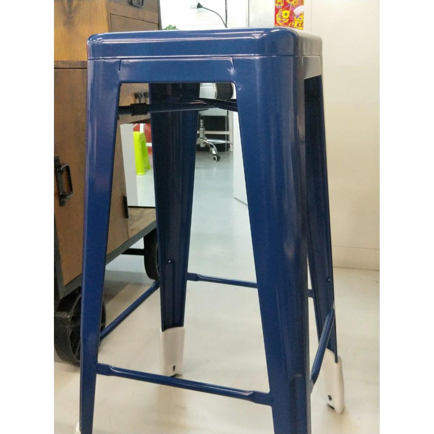 DENVER Metal Bar Stool in BLUE