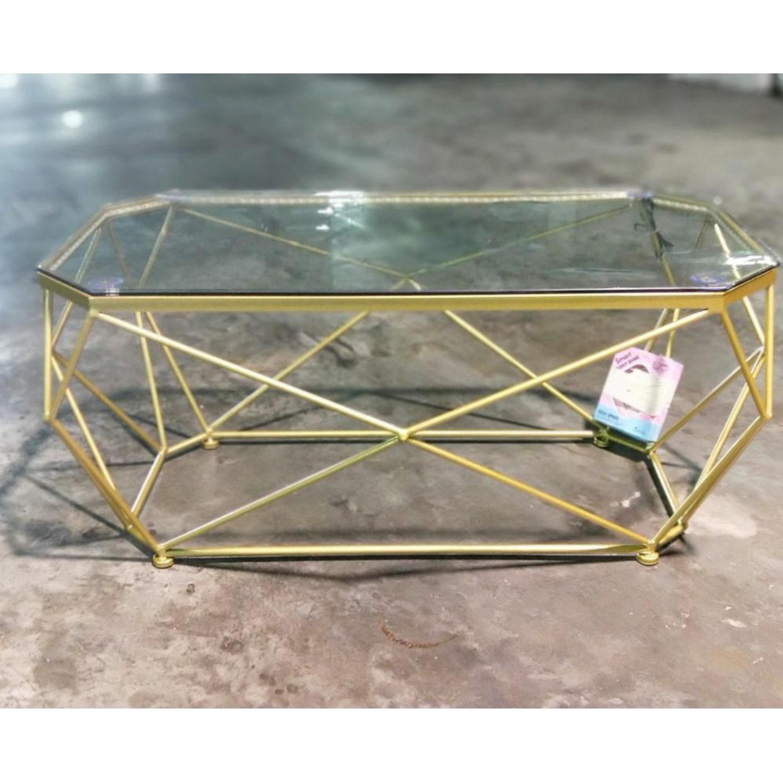 NORLEN Geometric LED Coffee Table 100