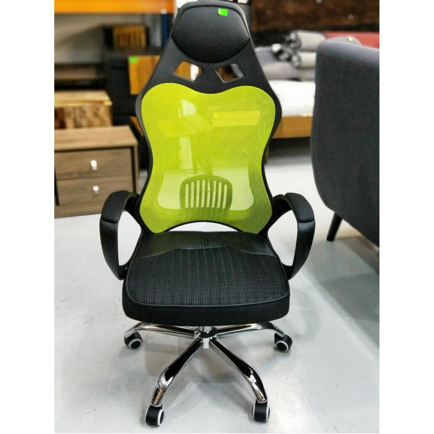 KARBON Racing Gaming Chair in BLACK & GREEN Mesh