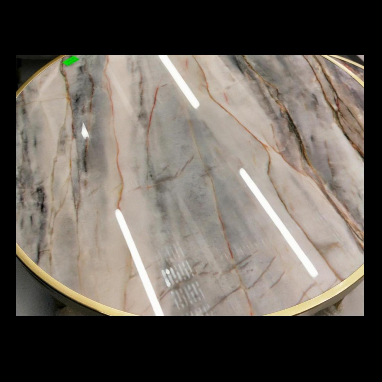 EMPIRA Marble Round Nesting Table Set (L)