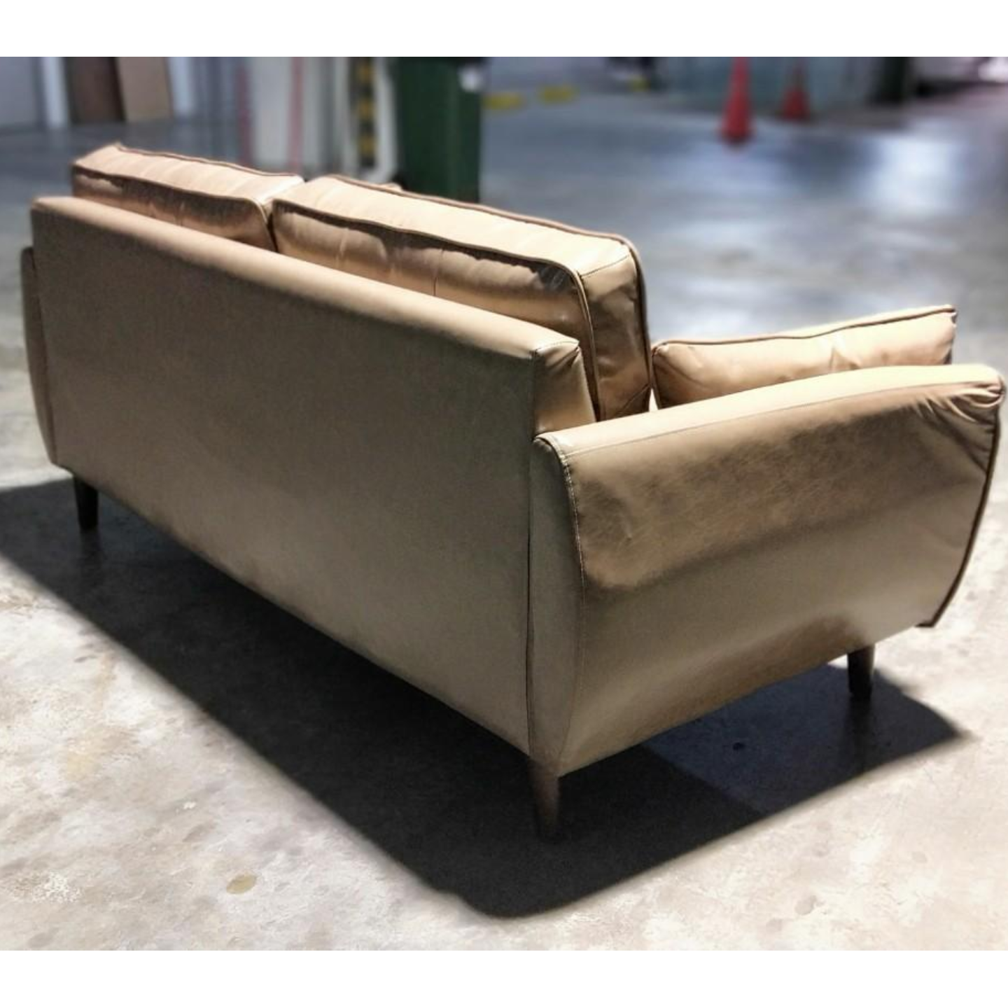 MOVICK Series Designer 3 Seater in CHAMPAGNE PU