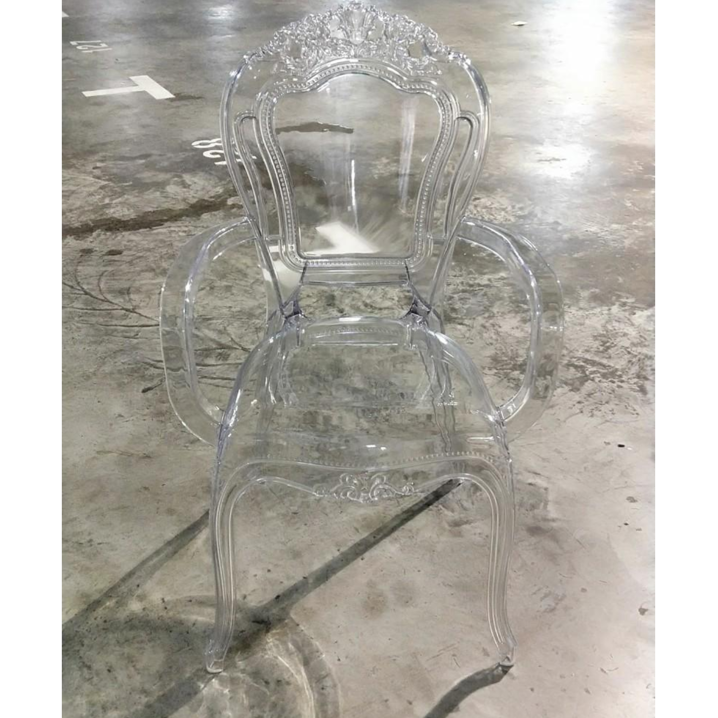 EBIZA Dining Chair Clear