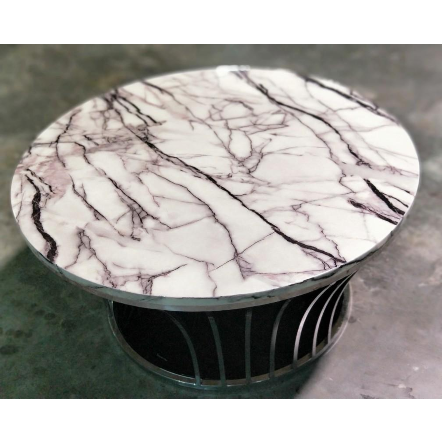 WESTLEY Monochrome Round Marble Coffee Table