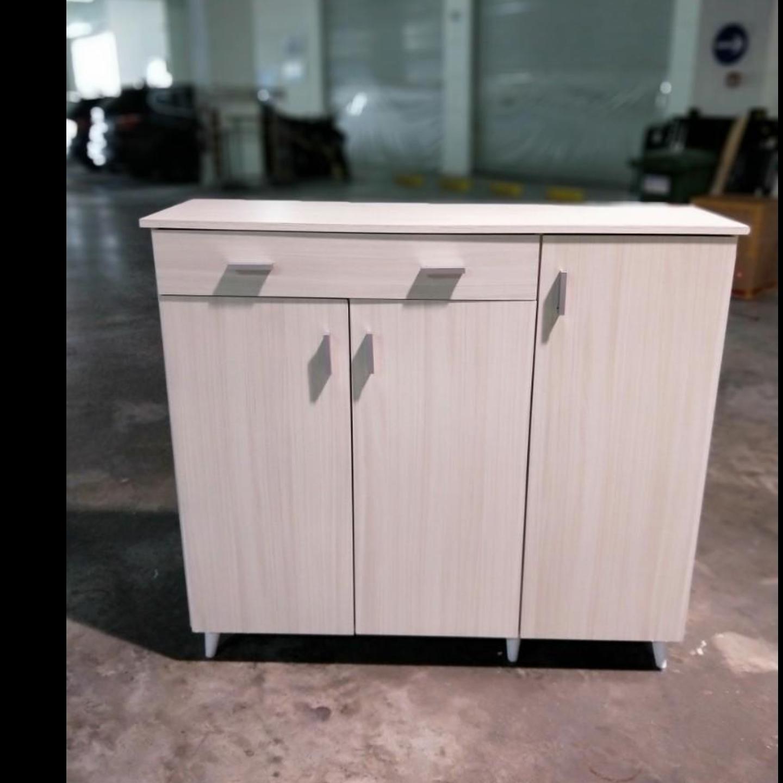 VIANNA Wide Shoe Cabinet in WHITE WASH