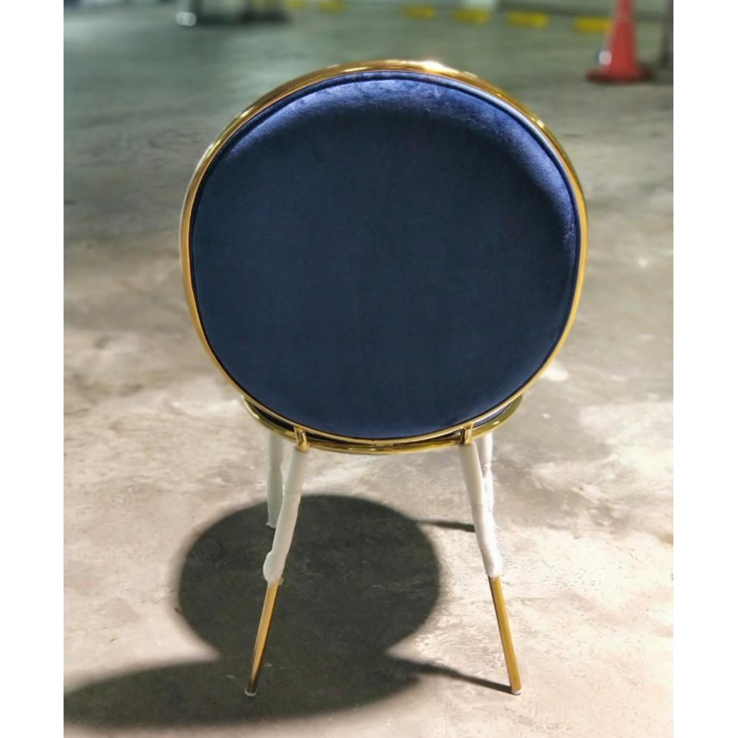 LAONA Chair in Blue and Gold Frame