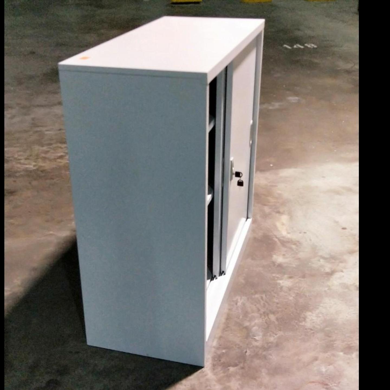 NIRA Low Steel Filing Cabinet in LIGHT GREYP