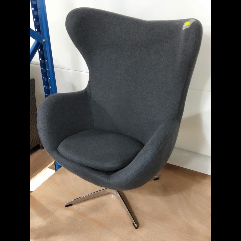 PROMETHEUS Designer Replica Egg Chair in CHARCOAL