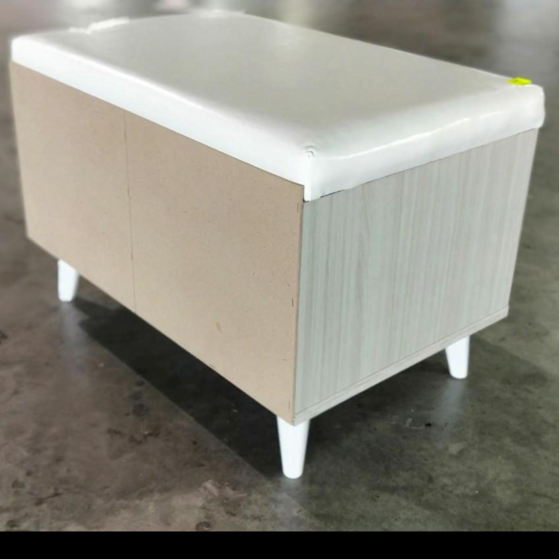 BASSO Bench in White Wash