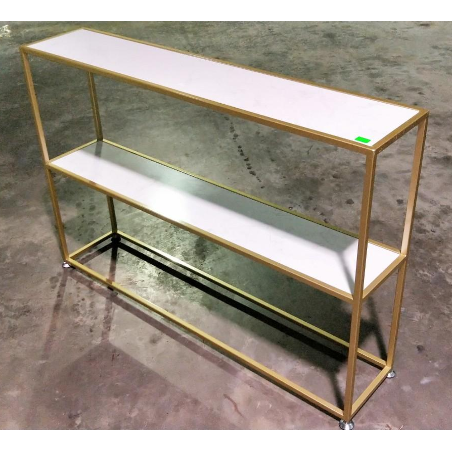 KURGEN Marble Hallway Display Shelf