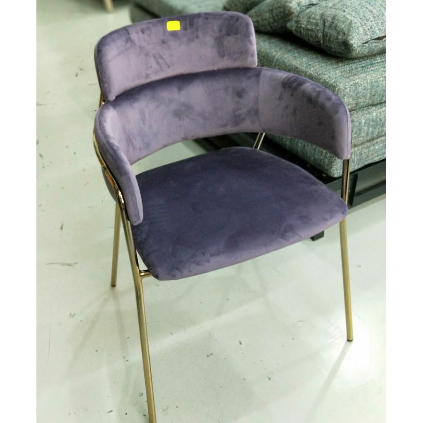 EMMEX Chair in PURPLE with GOLD LEGS