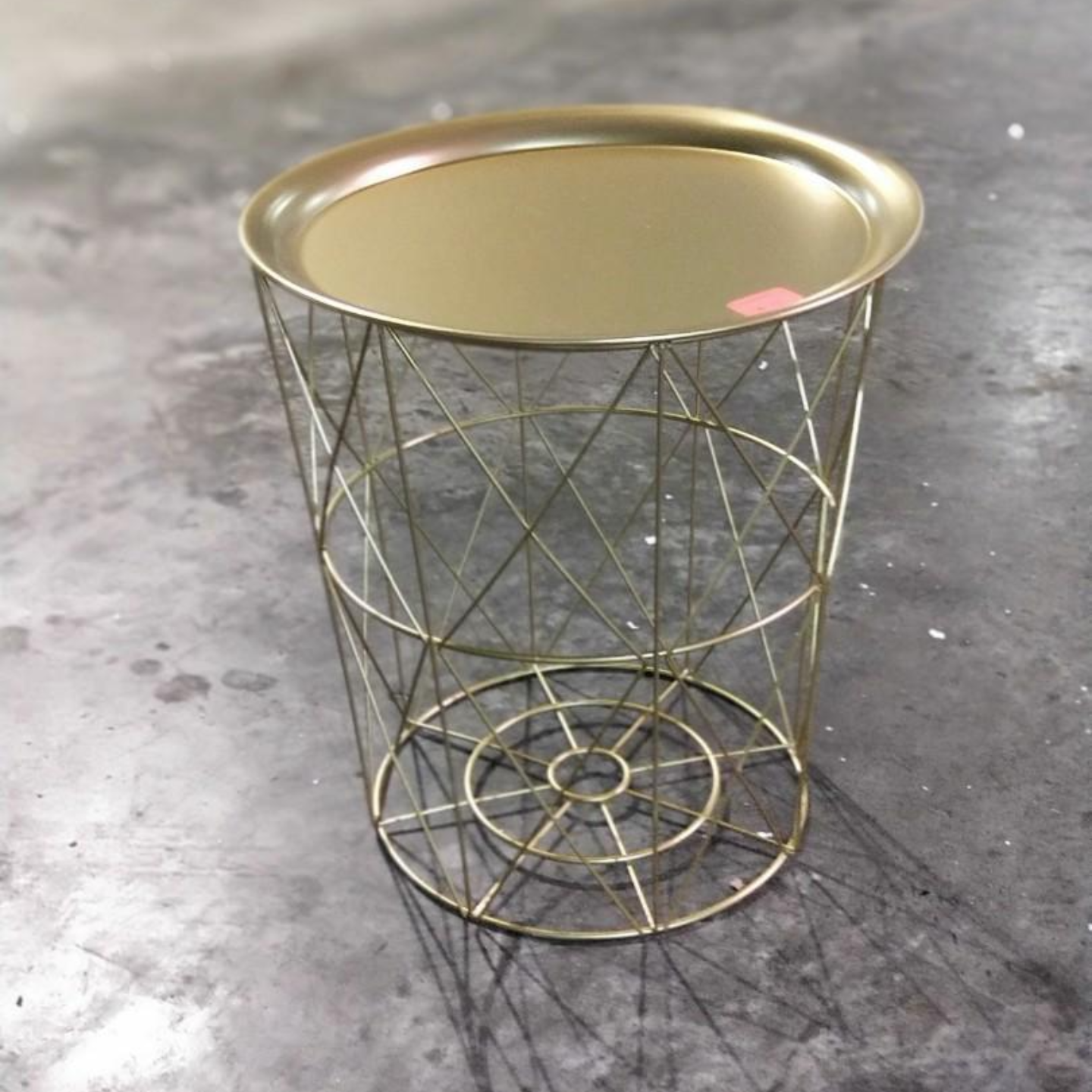 KAYLON Matt Gold Wireframe Side Table