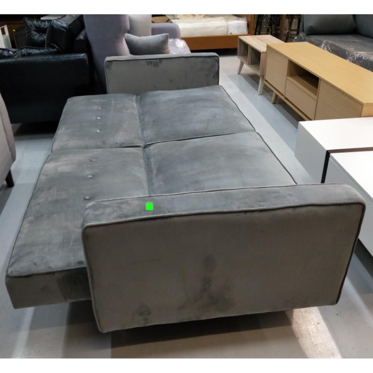 TERLINA 3 Seater Sofa Bed in GREY VELVET