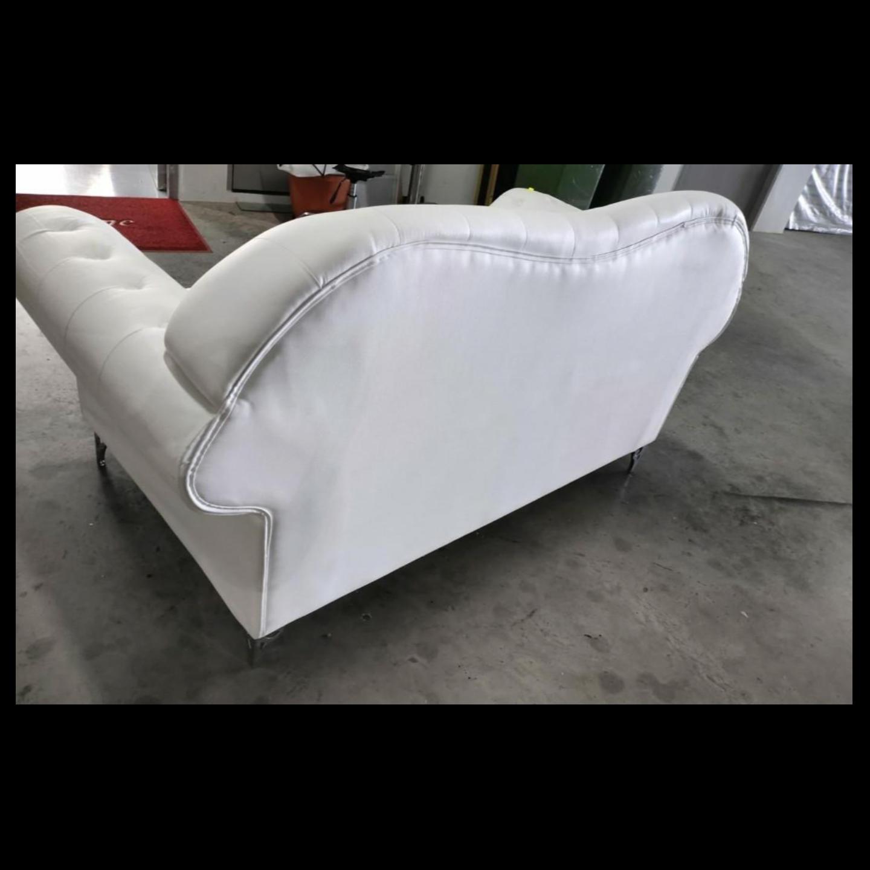 HAMPTON 2 Seater Classical Sofa in WHITE PU