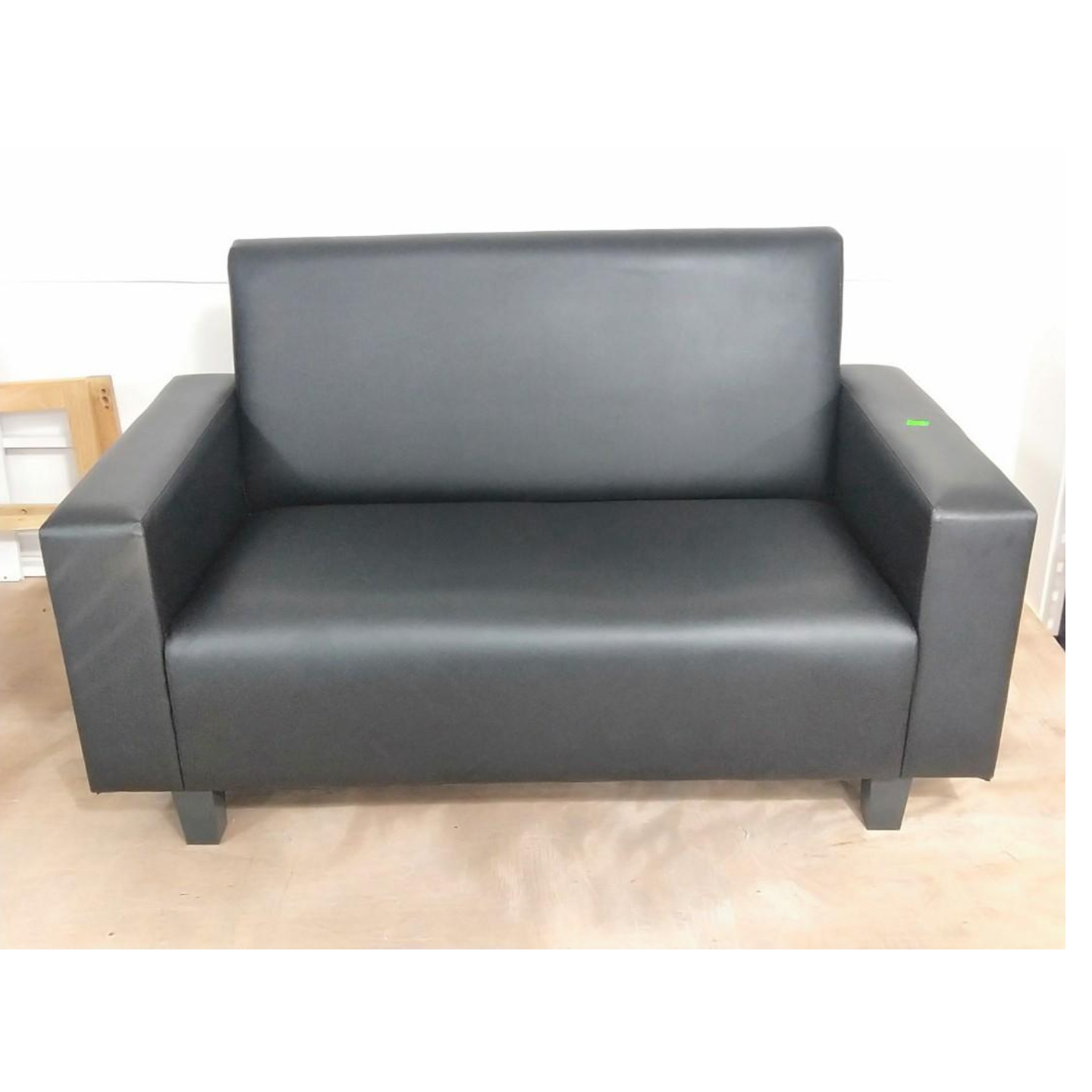 JENIN Black PU 2 Seater Sofa