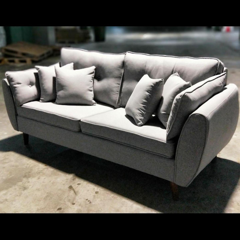 MOVICK Series Designer 3 Seater Sofa in GREY FABRIC