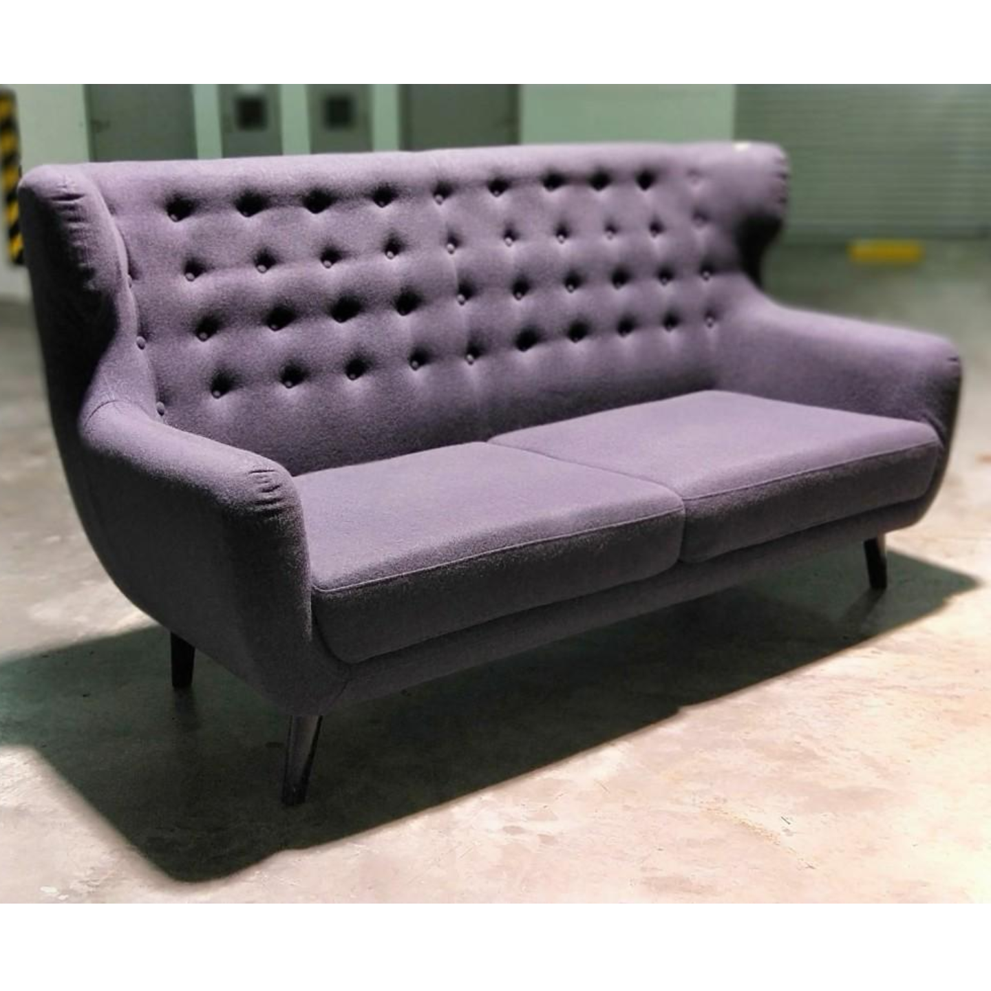 SCAN X-WINGBACK Designer 3 Seater Sofa in CHARCOAL GREY