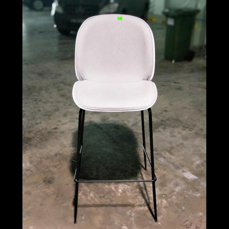 VOLKZ Bar Chair in LIGHT GREY FABRIC