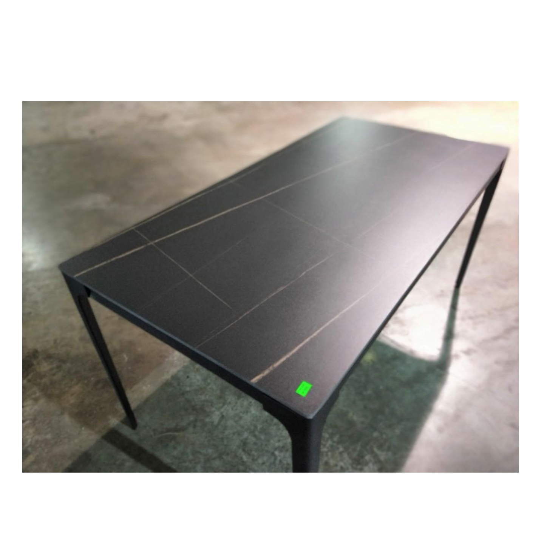 SOCIETY Contemporary Designer Black Ceramic Slate Dining Table