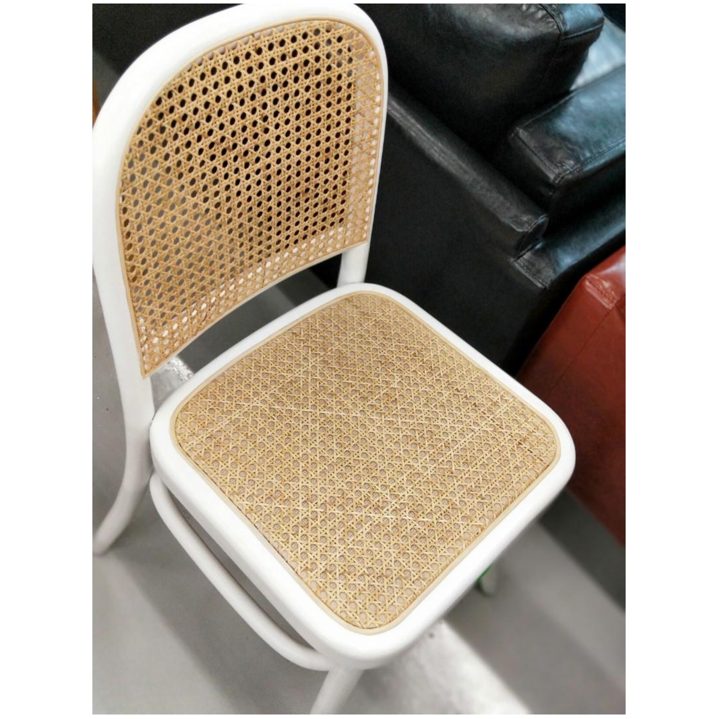 VOLONIA Rattan Chair in WHITE