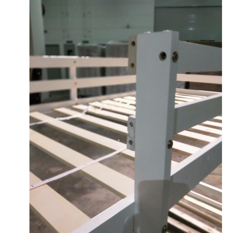 RUZENDA Double Deck Bunk Wooden Bed WHITE - SINGLE