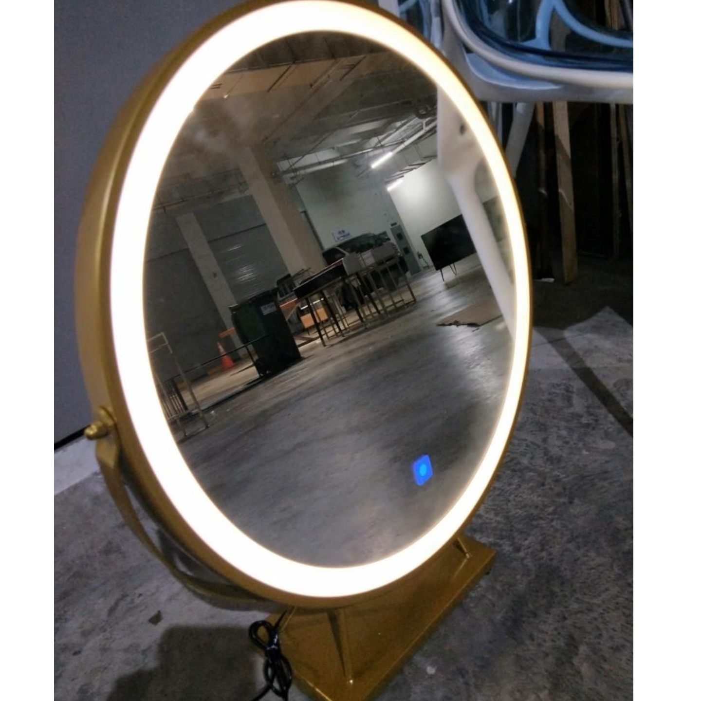 REINA Modern LED Vanity Mirror with MATTE GOLD FRAME