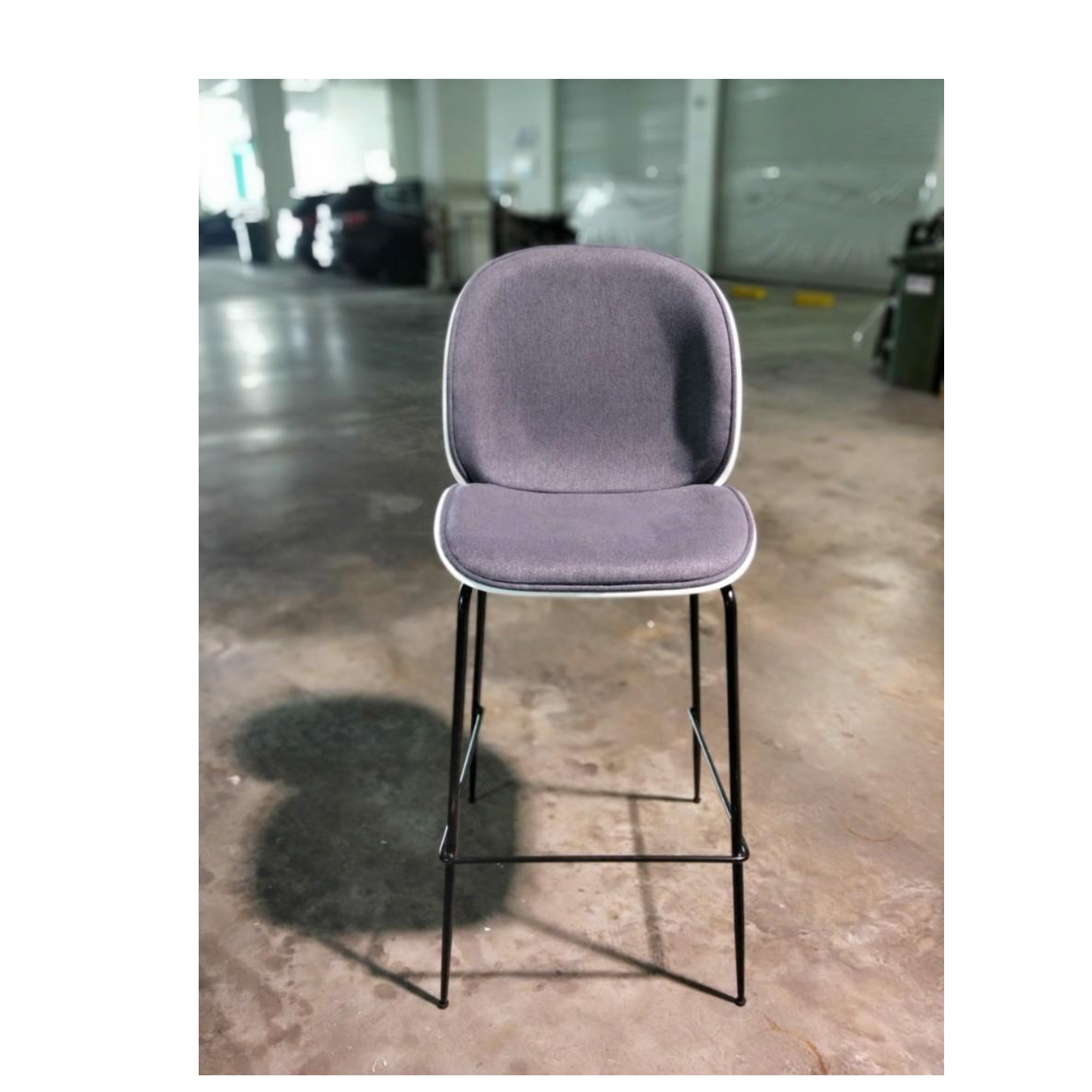 VOLKZ Bar Chair in GREY FABRIC