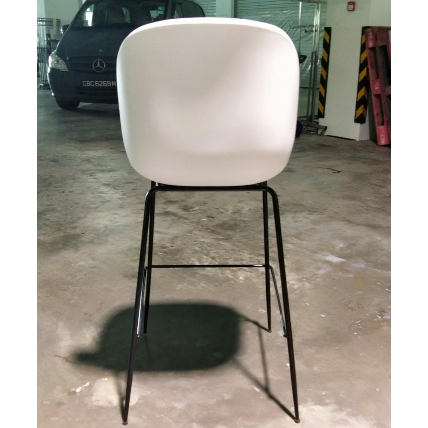 VOLKZ Bar Chair in LIGHT GREY FABRIC